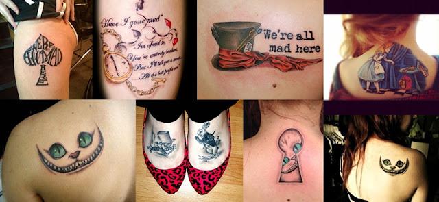 tatuagens alice no país das maravilhas