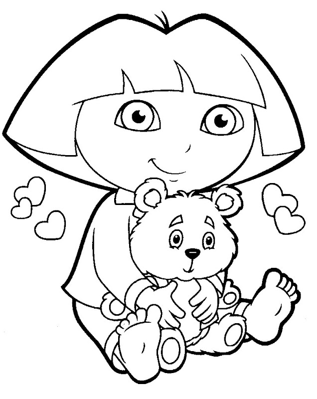 dora the explorer, dora coloring pages title=