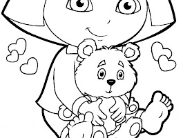 Dora Winter Coloring Pages