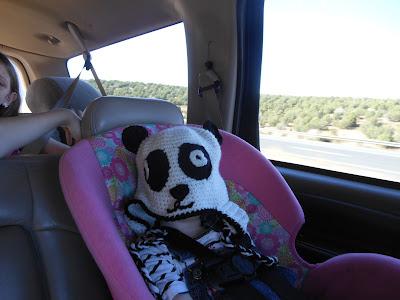 panda hat on baby