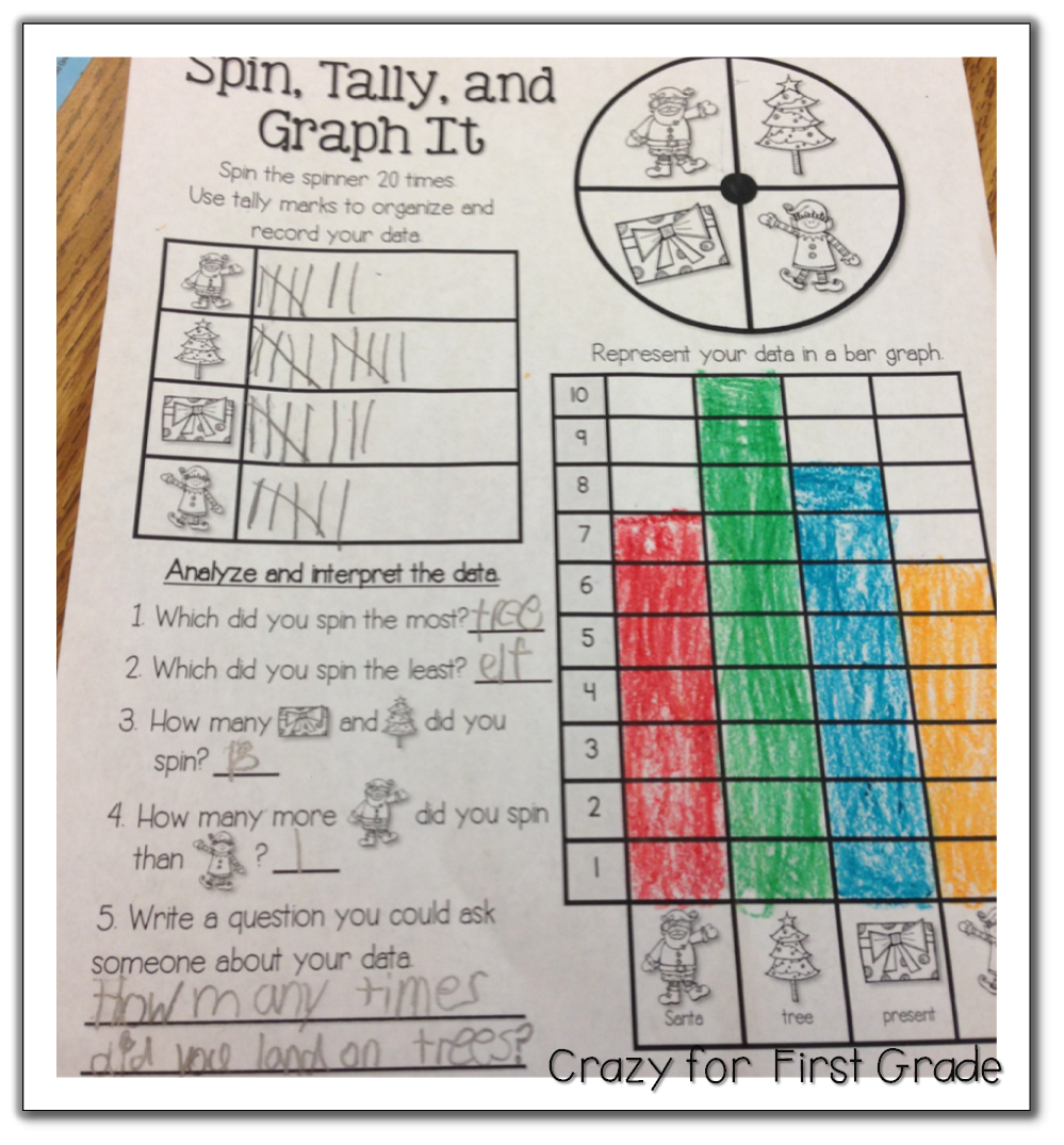 Crazy for First Grade Just Graph It Sneak Peek w freebies – Graphing Worksheets for First Grade