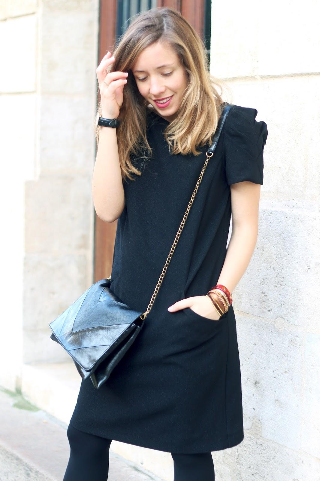 Robe noire paillettes promod