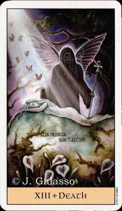 Crystal Visions Tarot, Death, Jennifer Galasso