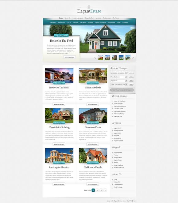 template para site de imobiliária