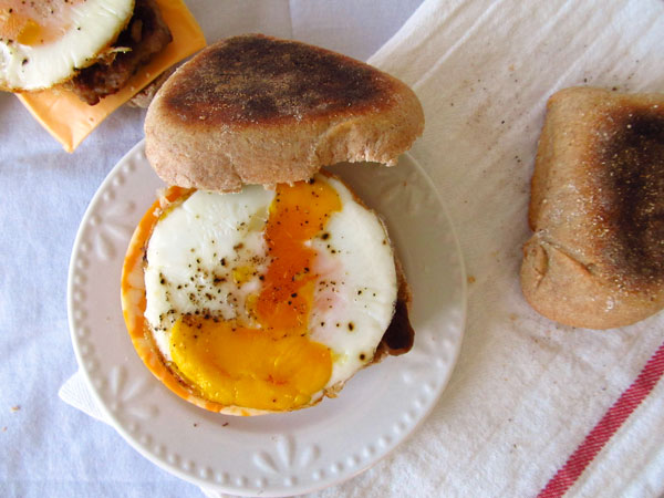 Egg and Cheese Breakfast Sandwich-McMuffin Copycat