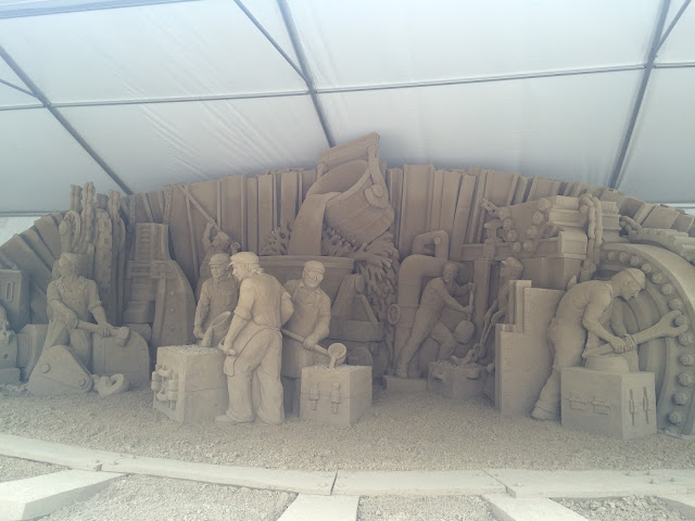 steel town sand sculpture