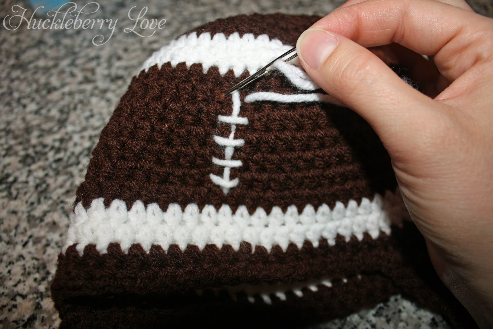 Free crochet patterns for baby football hat manet for huckleberry love crochet football hat w earflaps free bankloansurffo Choice Image