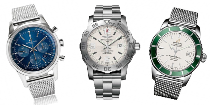 Favourites watches Silver Round Sphere Breitling