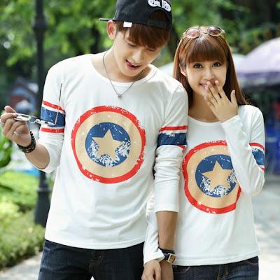 Model Baju Couple Lengan Panjang Terbaru 2016