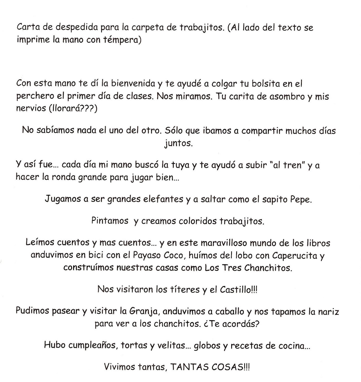 Una Carta De Despedida