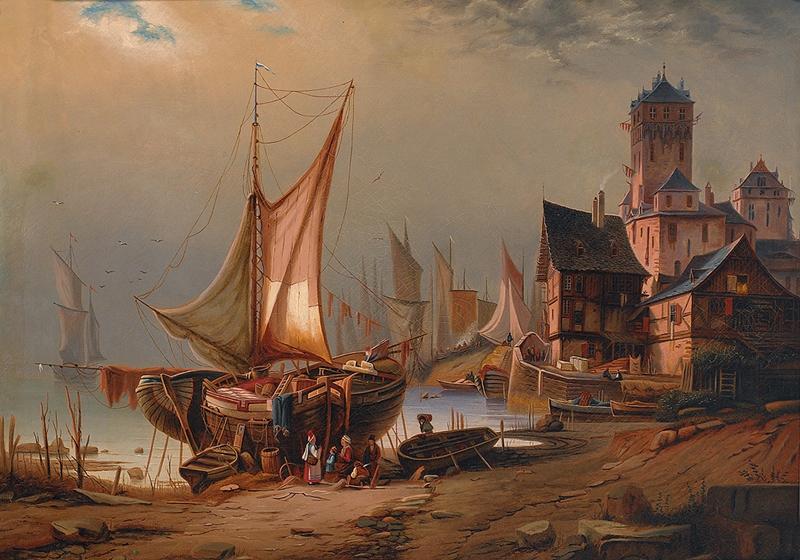 Карл Кауфман 1843-1901 | Венецианский сцены художник