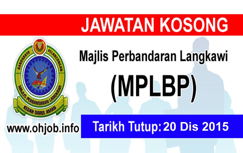 Jawatan Kerja Kosong Majlis Perbandaran Langkawi Bandaraya Pelancongan (MPLBP) logo www.ohjob.info disember 2015
