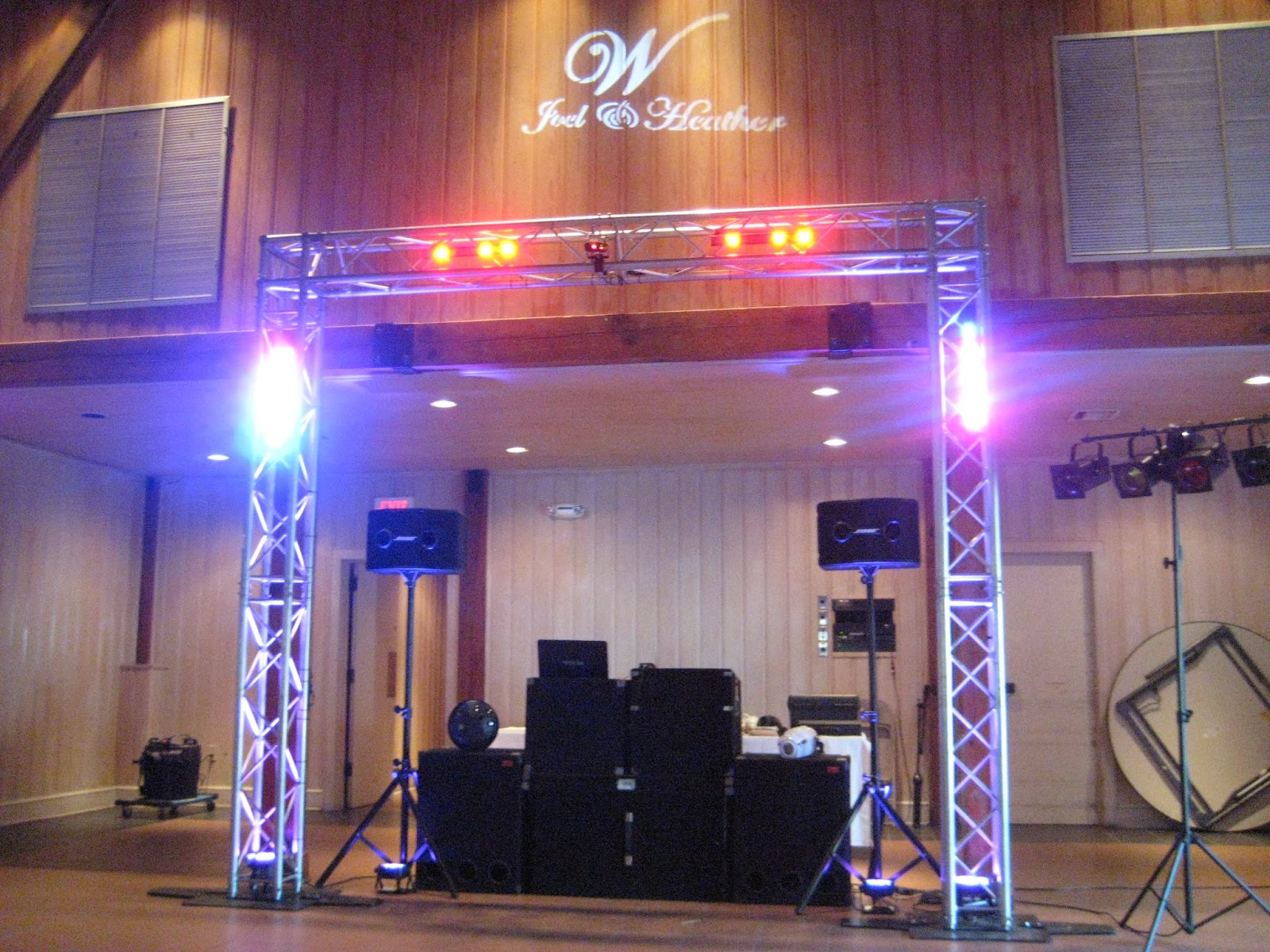 Dj disc jockey karaoke photo booth led decor wall up whether its a sound system for your special eventwedding sound with dance lights sound with dance floors a ceremony system and karaoke we have it all mozeypictures Gallery