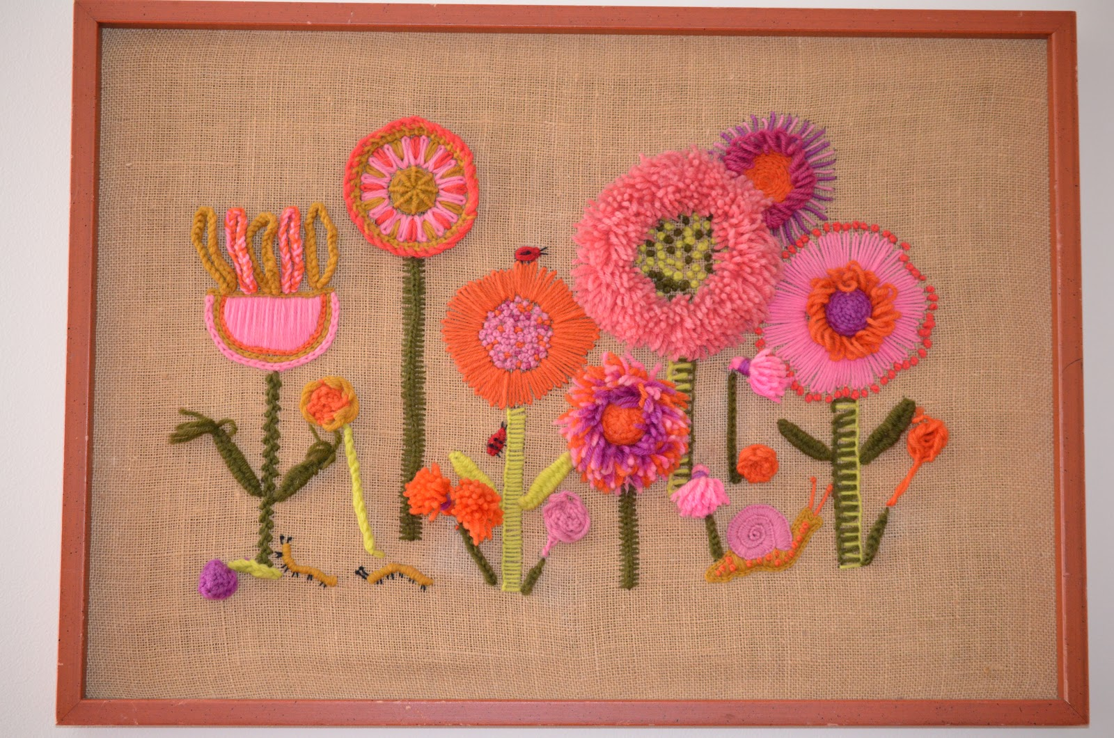 Of Course, Something That I Love In Home Decor Yarn Pieces Stitched On  Burlap With