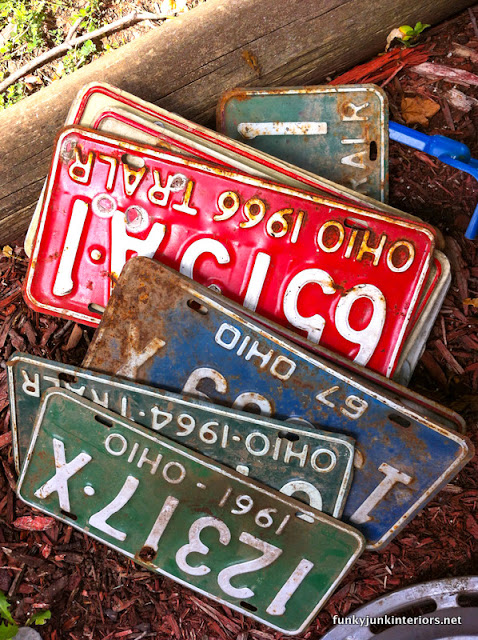 old vintage license plates from Ohio
