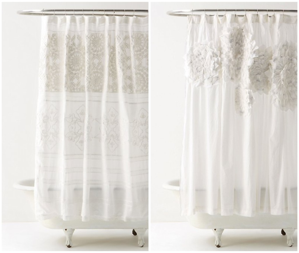 I Started With A Plain, Light Gray Shower Curtain Because Thatu0027s What I  Already Had Up. If You Want To Copy These Looks ...