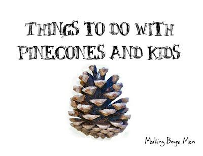 Things to do with pinecones and kids