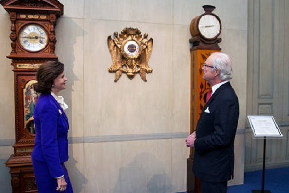 King Carl Gustaf Of Sweden Opened '400 Years Of Royal Clocks' Exhibition