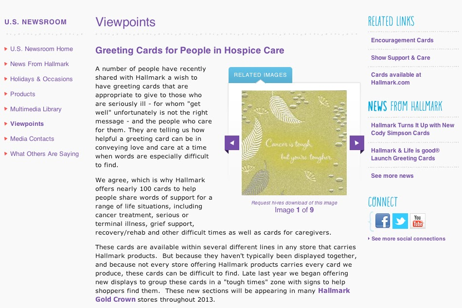 Regina hollidays medical advocacy blog hallmark is listening i wish to applaud these two steps in the right direction but i want you to look closely at the first card they selected to address this issue m4hsunfo