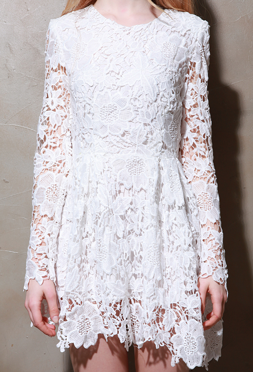 Cut-Out Back Lace Dress