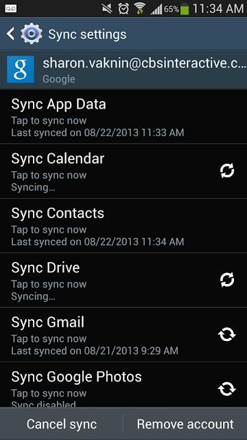 sync off data