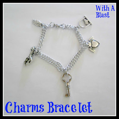Charms Bracelet - Easy DIY    www.withablast.net