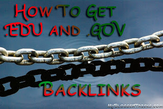 get .GOV and .EDU Backlinks