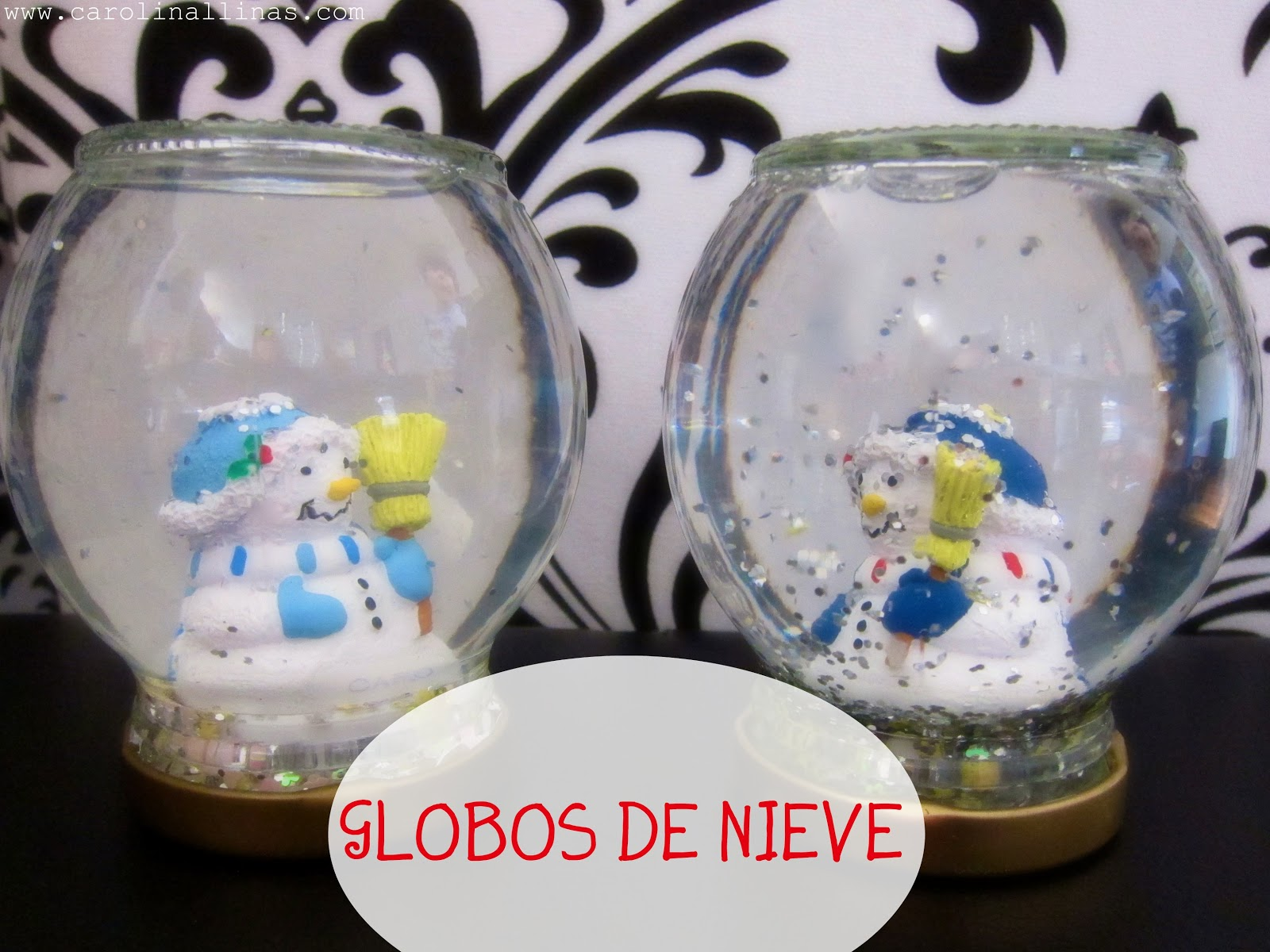 Artividades globos de nieve - Como hacer bolas de nieve ...