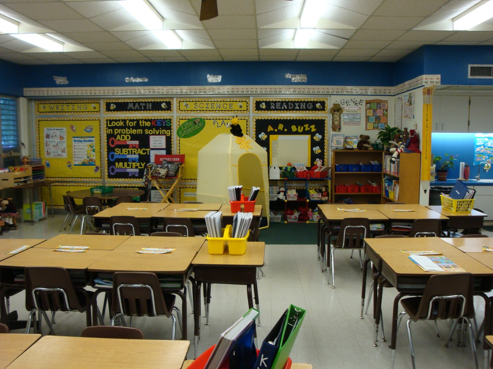 Lights Camera Action Learn Bee Themed Classroom