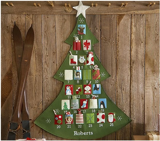 Image result for pottery barn christmas advent calendar