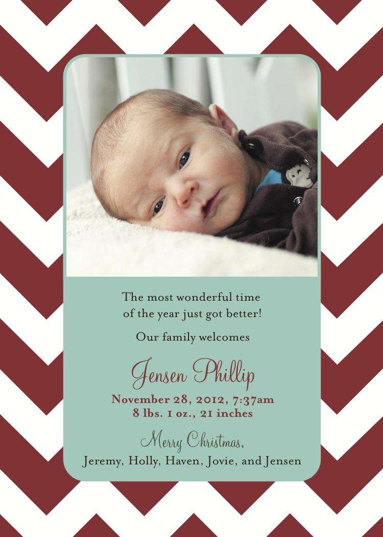 Firsthand in Andlerland: Christmas Card/Birth Announcement