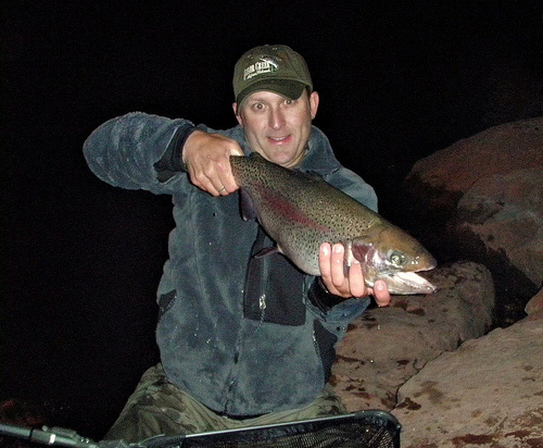 Night fishing for trout for Trout fishing at night