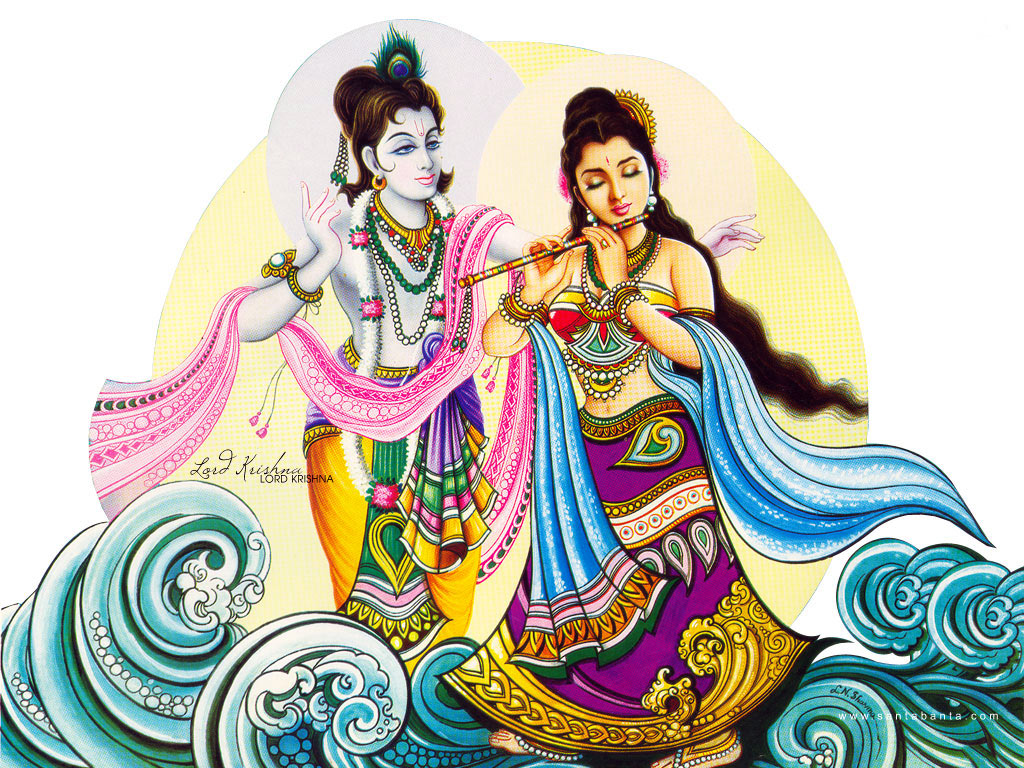 wallpapers of radha krishna playing holi