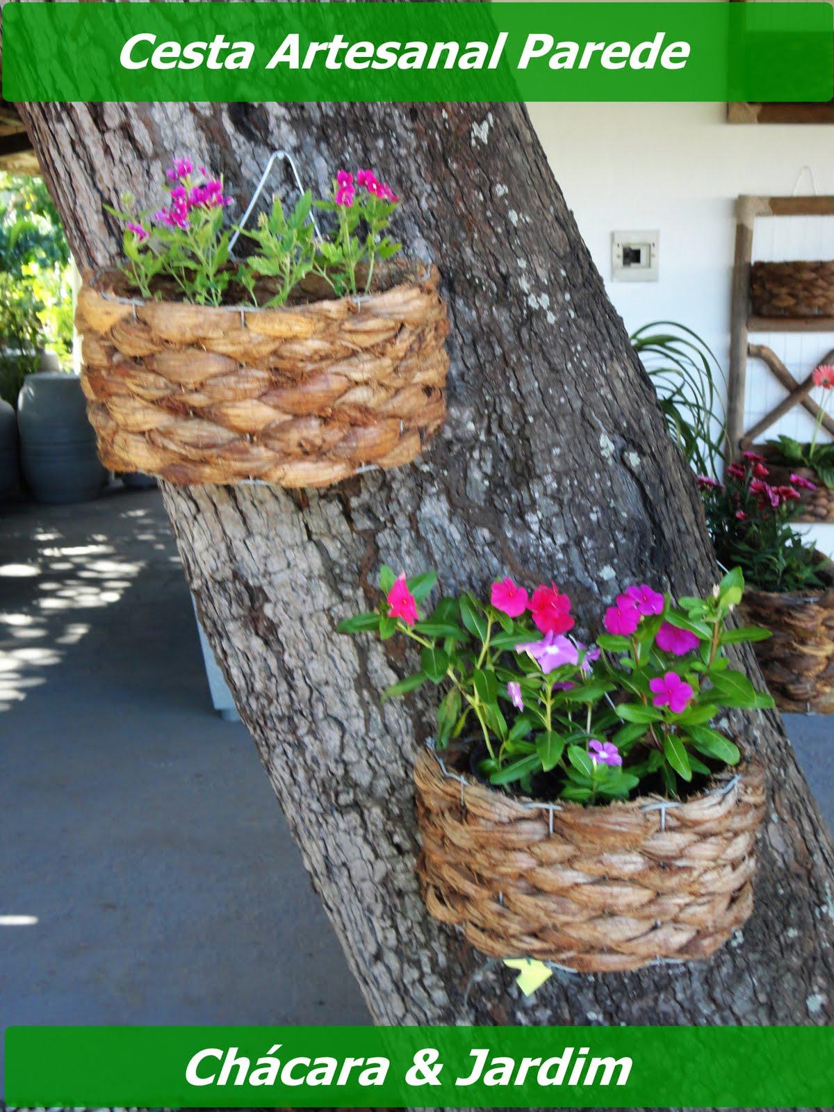 artesanato de bambu para jardim:Também dispomos de peças como as cestas artesanais para parede (meia