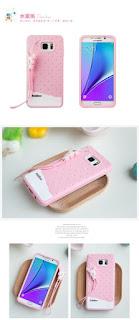 Fabitoo For Samsung Galaxy Note 5 Silicone Rubber Soft TPU Cute Cover Case Strip