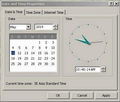 Time and Date Setting Komputer yang Benar