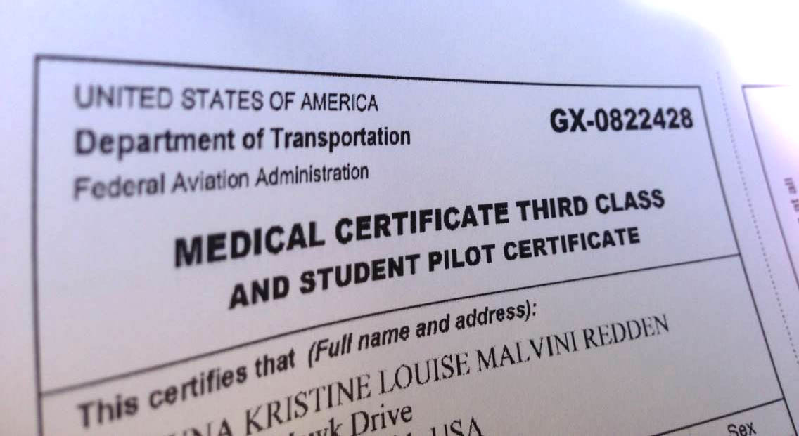Fly Girl In Training Flight Medical And Student Pilot Certificate