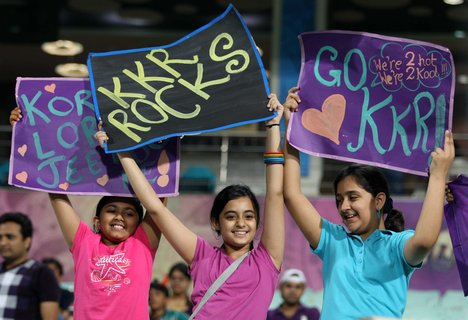 little girls cheers kkr