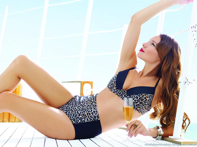 Trajes de bañoAilyke, moda verano 2015 bikinis y mallas enteras Ailyke,