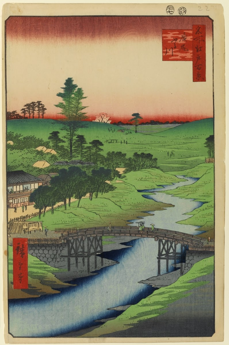 ©Utagawa Hiroshige - Cien famosas vistas de Edo. Primavera. Ilustración | xilografia | ukiyo-e
