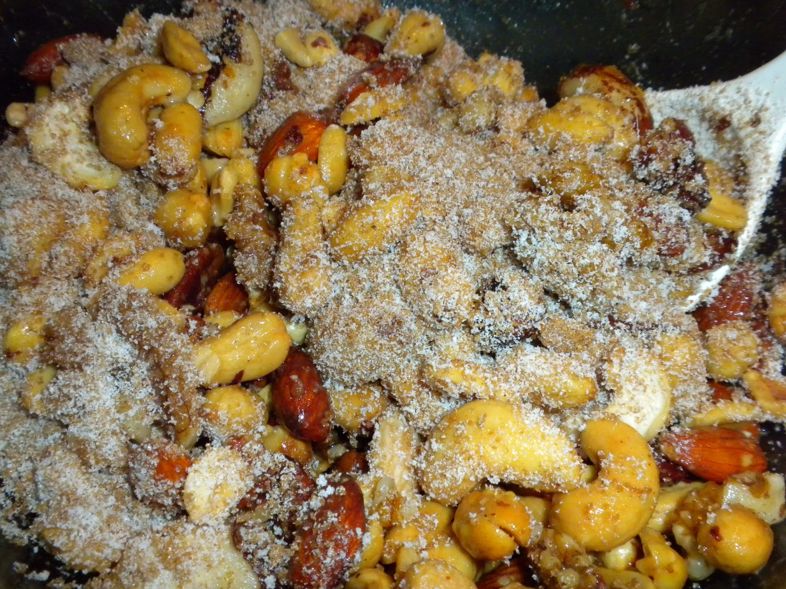 Making Sweet and Spicy Nuts by Substance of Living
