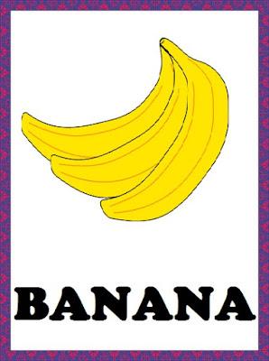 kindergarten worksheets fruits flashcards banana. Black Bedroom Furniture Sets. Home Design Ideas