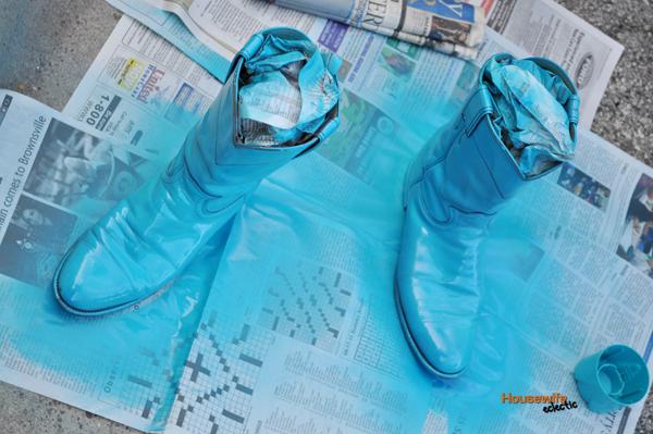 Spray Paint Cowboy Boots