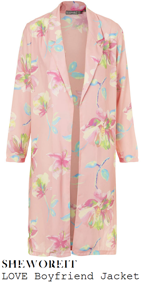 georgia-kousoulou-bright-pink-floral-print-knee-length-boyfriend-jacket-coat-boutique-launch