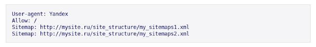 Sitemap в robots txt