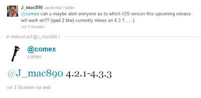 Comex nennt iOS-Versionen für iPad 2-Jailbreak
