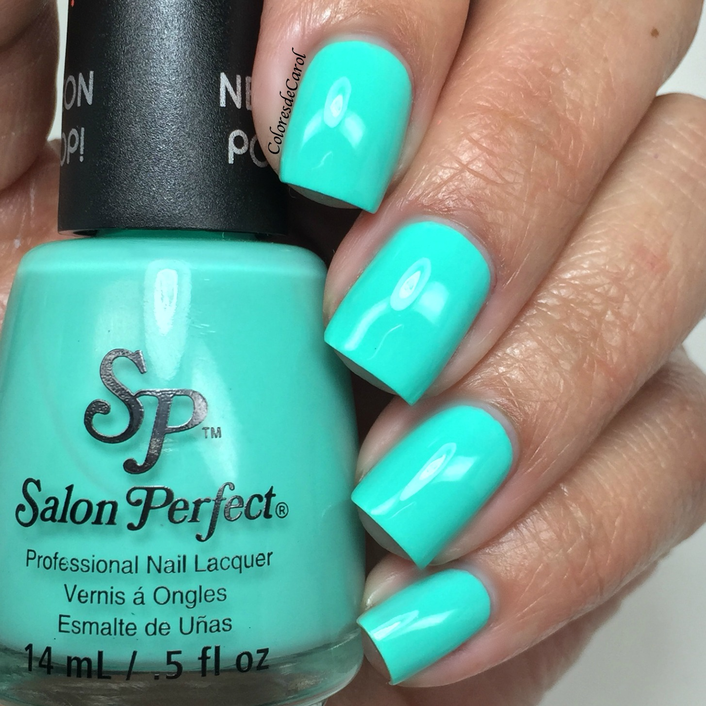 Neon Teal Nail Polish | Best Nail Designs 2018