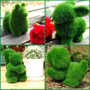 Jual boneka lucu dan unik berupa boneka rumput.