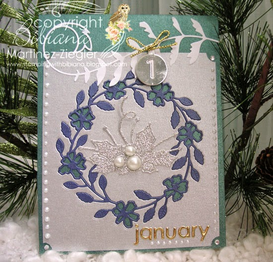 wreath card for New year