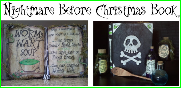 DIY Nightmare Before Christmas Halloween Props: DIY Antique Spell ...